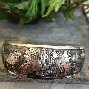 Quality Tibetan Silver Tiger Bangle Cuff Bracelet